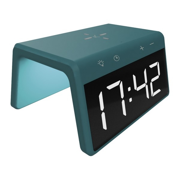 Alarm Clock with Wireless Charger KSIX Qi 10W