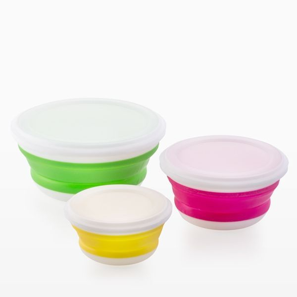Bravissima Kitchen Folding Food Storage Containers (3 pieces)