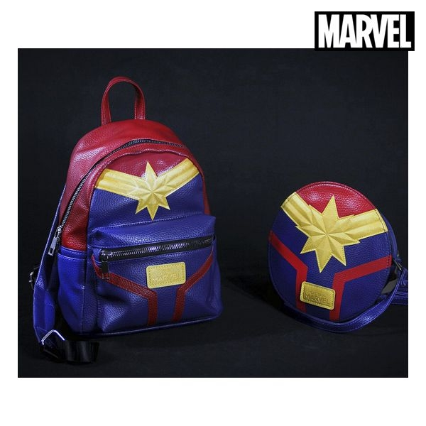 Casual Backpack Captain Marvel 72855 Blue Red Yellow