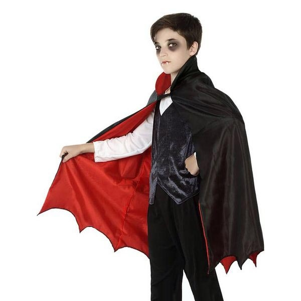 Cloak 117963 Vampire Childrens Black (66 Cm)