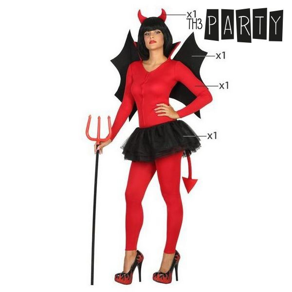 Costume for Adults Female demon Wings (4 Pcs)