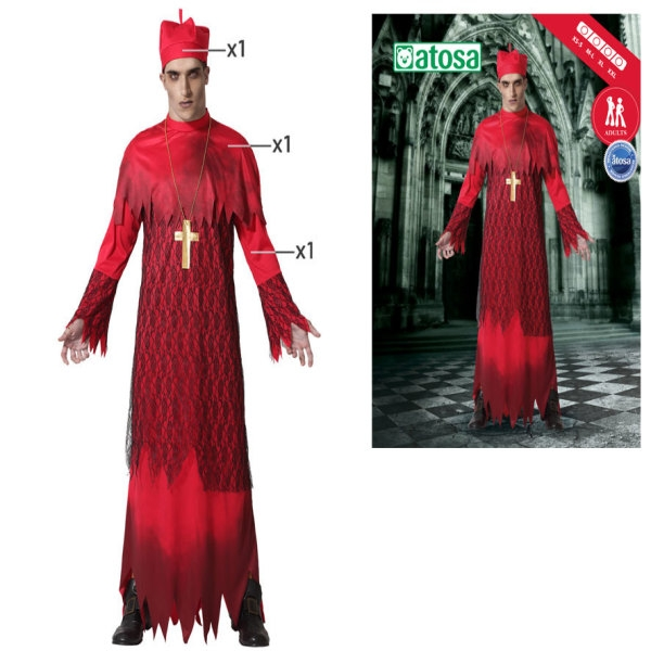 Costume for Adults Halloween Cardinal Red