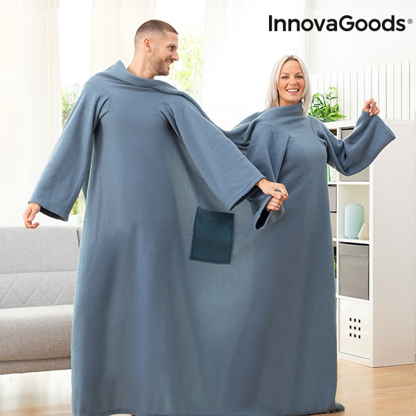 Double Sleeved Blanket with Central Pocket Doublanket InnovaGoods