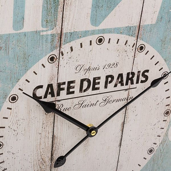 French Vintage Coconut Wall Clock