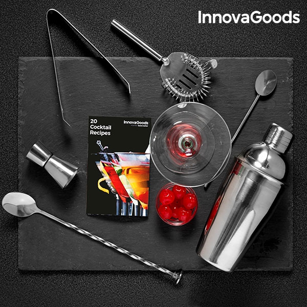 InnovaGoods Cocktail Set with Recipe Book (6 Pieces)