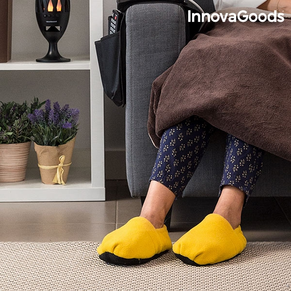 InnovaGoods Foot Warming Slippers