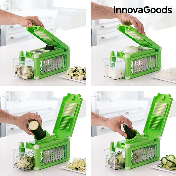 InnovaGoods Mandoline and Spiralizer Set 8-in-1 with Recipe Book