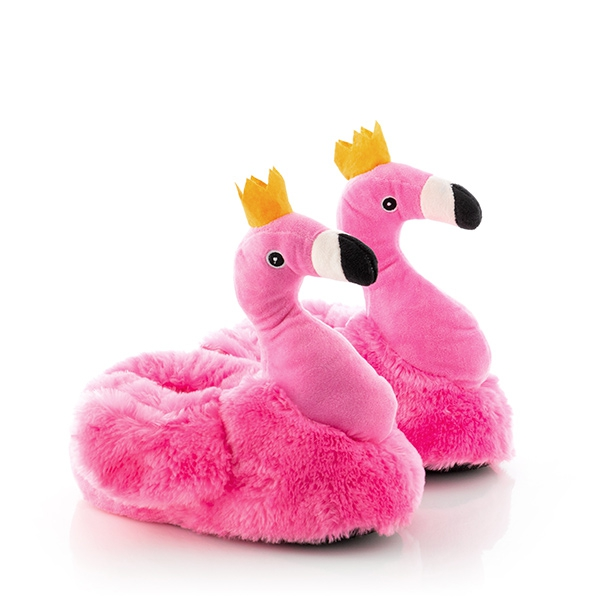 Junior Knows Flamingo Childrens Slippers