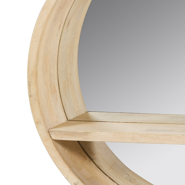 Mirror Circular Fir wood