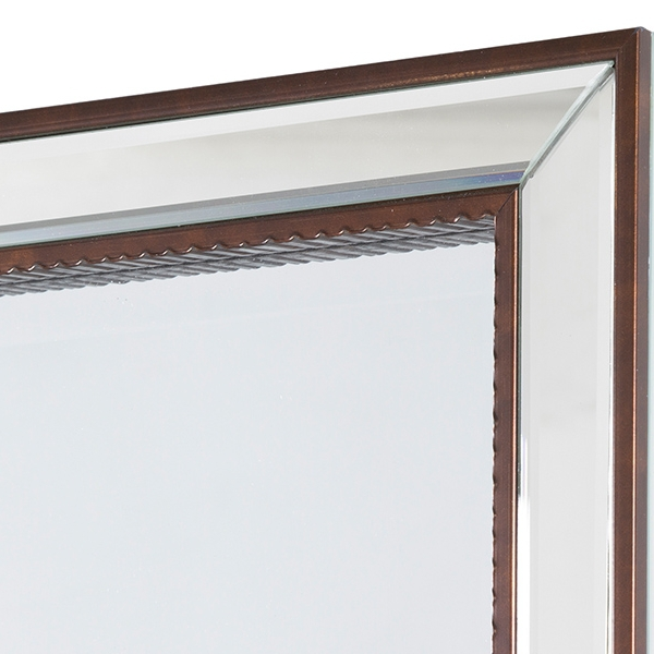 Mirror Synthetic resin Bevelled glass Bronze (70 x 4 x 100 cm) by Homania