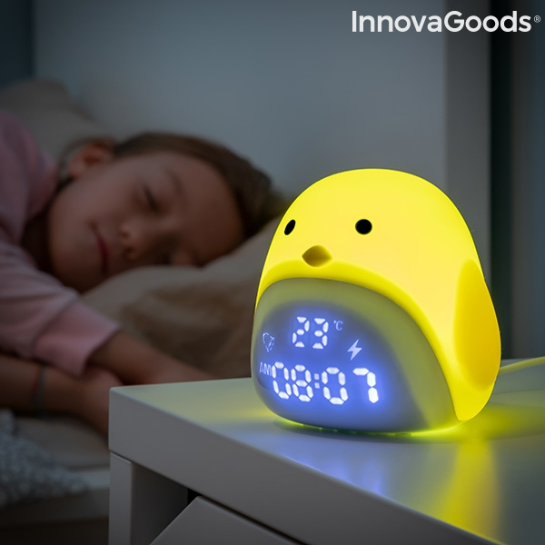 Rechargeable Tactile Silicone LED Alarm Chick InnovaGoods