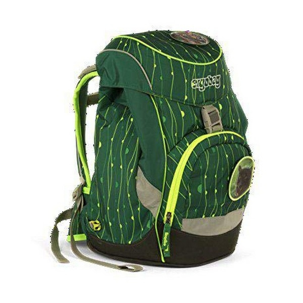 School Bag Eco Ergobag EBA-SIN-001-9K1 Green Yellow (25 X 22 x 35 cm)