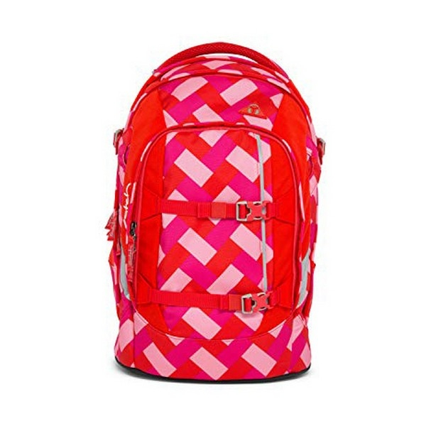 School Bag Eco Ergobag SAT-SIN-001-9D0 Red Pink (30 X 22 x 45 cm)