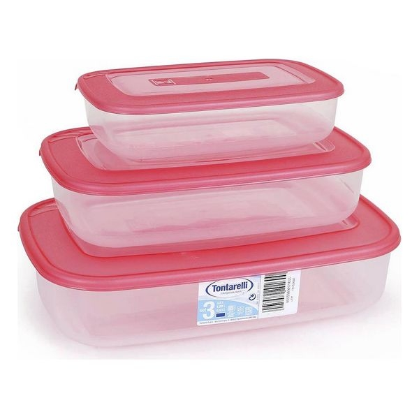 Set of 3 lunch boxes Tontarelli (1 - 2 - 3 L)