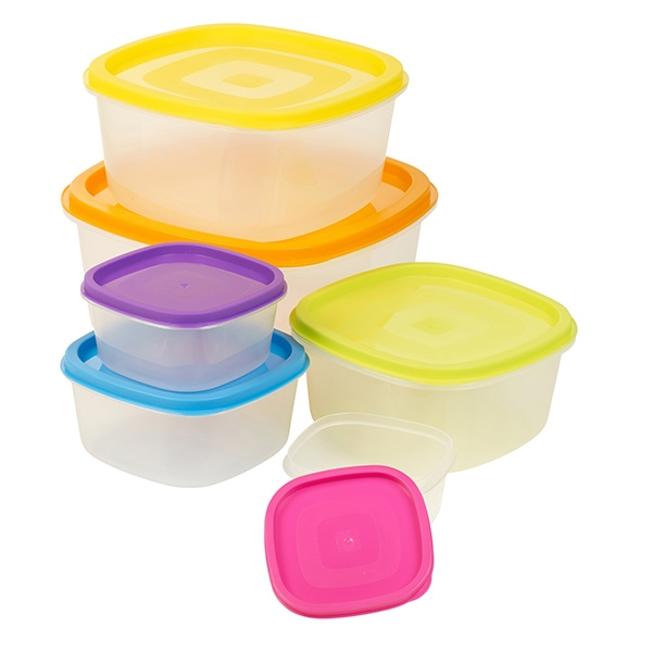Set of 6 lunch boxes Colors Eh